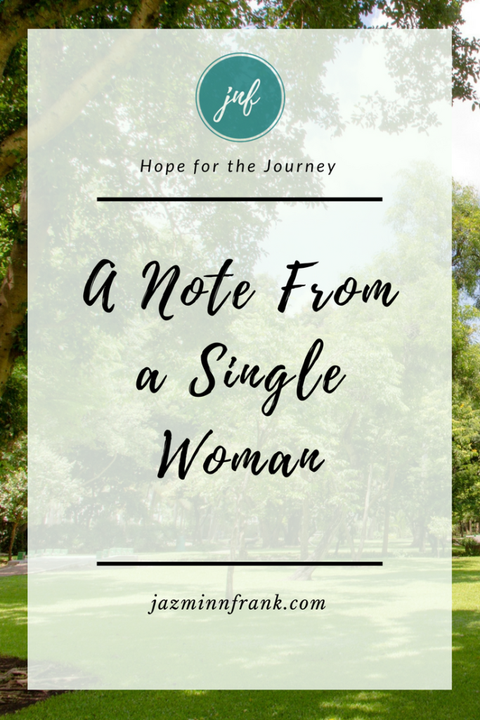 A Note From a Single Woman