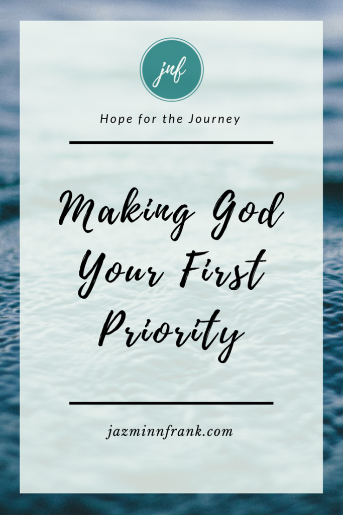 priority of God