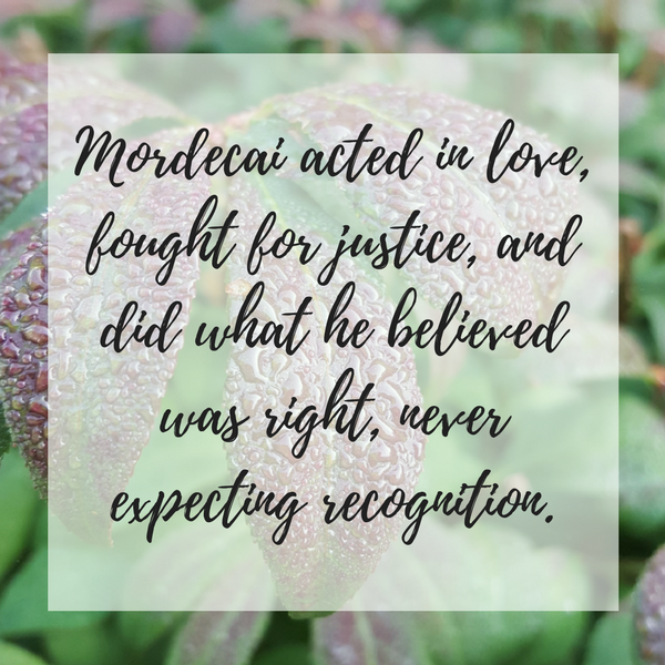 Mordecai a man of faith and action