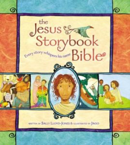 Every story whispers his name. A Bible like no other, The Jesus Storybook Bible invites children to join in the greatest of all adventures, to discover for themselves that Jesus is at the center of God's great story of salvation--and at the center of their own story too! (This isn't just for children!)