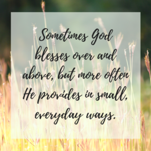God's Provision: Just Enough for this Season