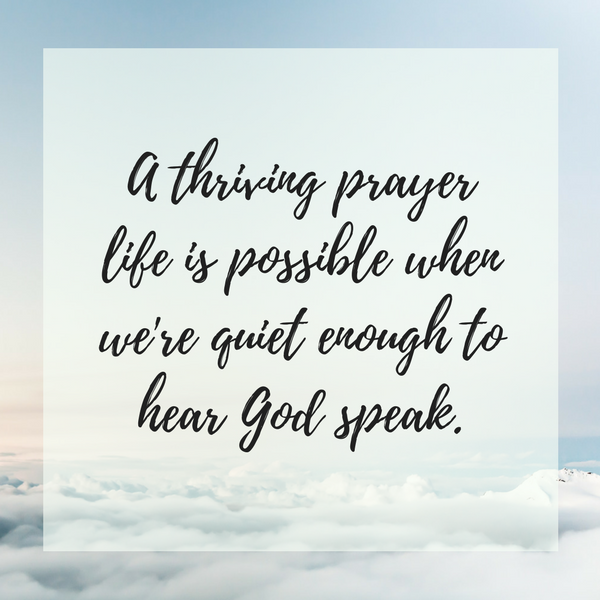 Listening prayer quote