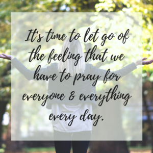 Focused Prayer: Why I stopped keeping a prayer list